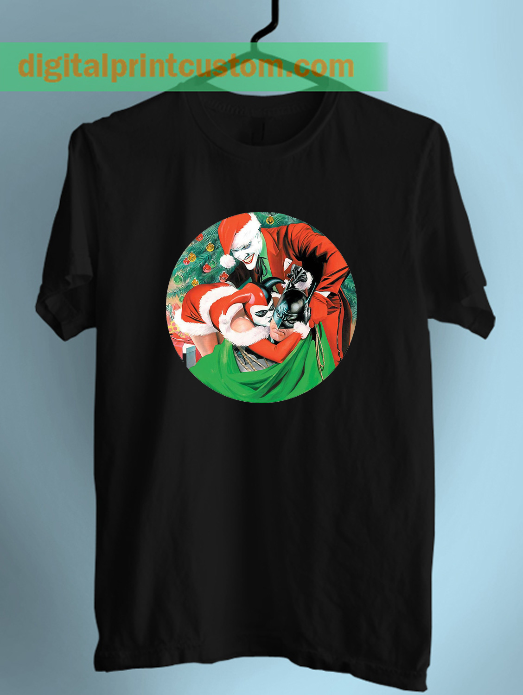 batman joker and harley quinn christmas unisex t shirt