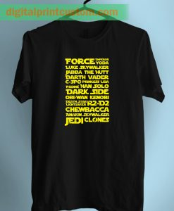 Star Wars Force Emperor Typhography Unisex T Shirt