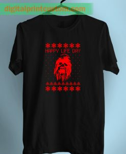 Chewbacca Star wars Happy Life Day Unisex T Shirt