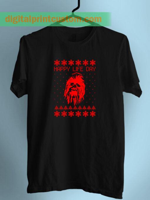 Chewbacca Star wars Happy Life Day Unisex T Shirt