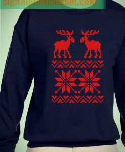 Deer Christmas Sweater Unisex Sweatshirts