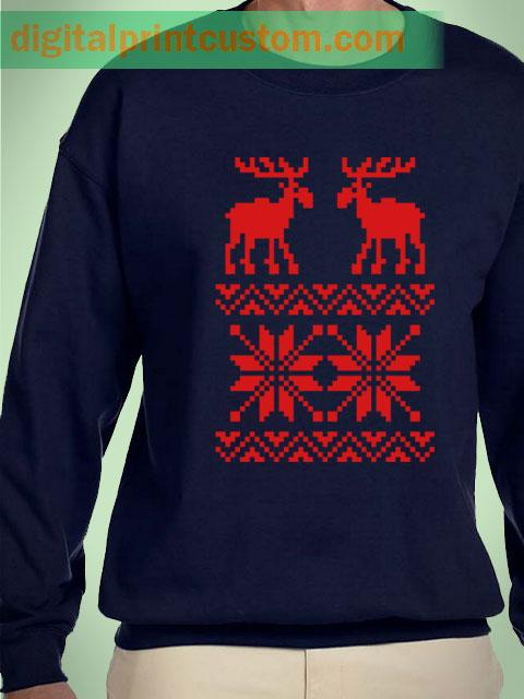 Deer Christmas Sweater Unisex Sweatshirts