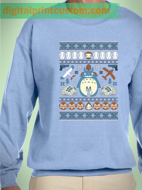 Neighbor Totoro Christmas Unisex Sweatshirts