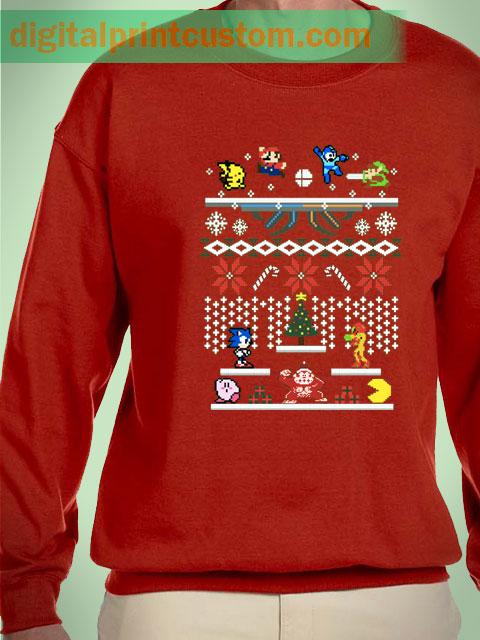Supermash Bit Ugly Sweater Unisex Sweatshirts