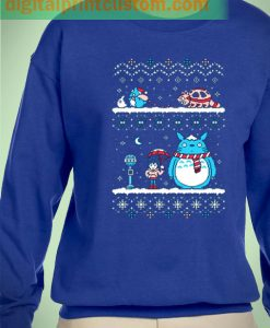 Tonari Totoro Cat Bus Ugly Christmas Unisex Sweatshirts