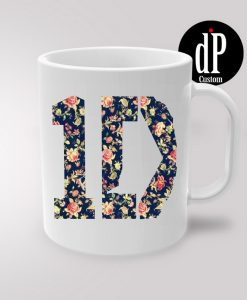 One Direction Floral Coffee Mug 11oz