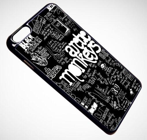 Arctic Monkey Lyrics Collage iPhone and Samsung Cases