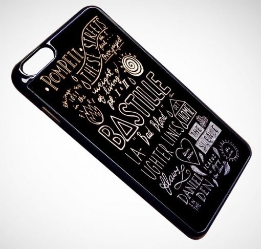 Bastille Lyrics Collage iPhone and Samsung Cases