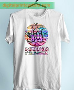 5 Sos Symbol With Aztec Pattern Unisex Adult Tshirt
