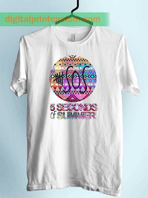 5 seconds of summer aztec chevron digitalprintcustom Custom t shirt digital printing