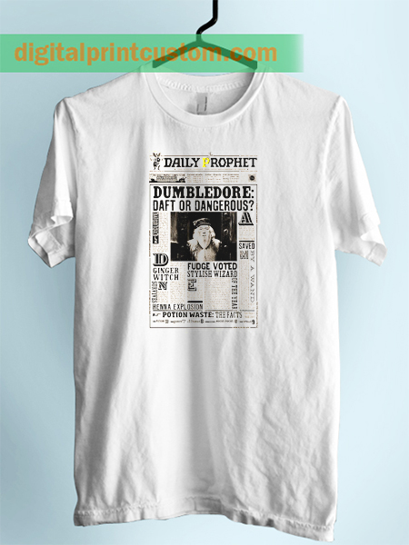 Albus Dumbledore Newspaper Style Unisex Adult T shirt