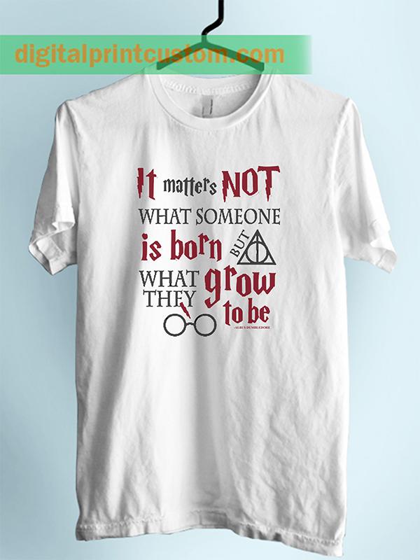 b4e2423c Albus Dumbledore Harry Potter Quote Unisex Adult T Shirt ...