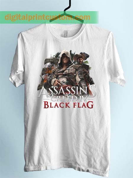 Assasins Creed Black Flag Unisex Adult TShirt