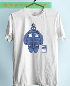Baymax Police Box Doctor Who Unisex Adult Tshirt