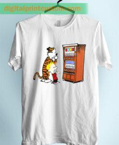 Calvin Hobbes Vending Machine Unisex Adult TShirt