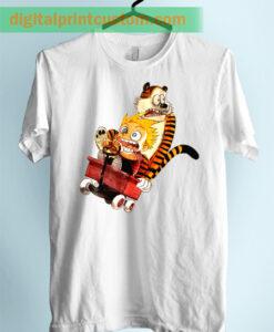 Calvin Hobbes Runaway Unisex Adult Tshirt