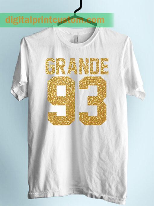 Ariana Grande 93 Jersey Number Unisex Adult Tshirt