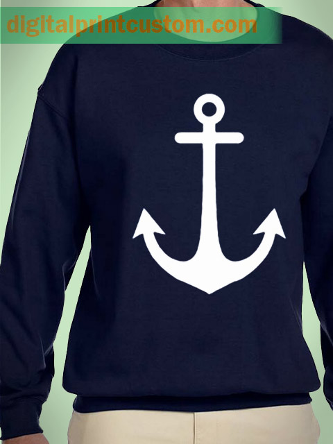 Anchor Sweater Navy Blue Sweatshirt