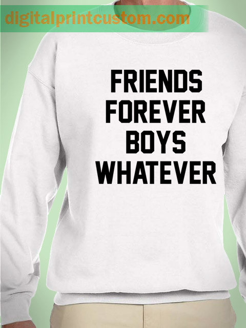 Friends Forever Boys Whatever Graphic Sweatshirt