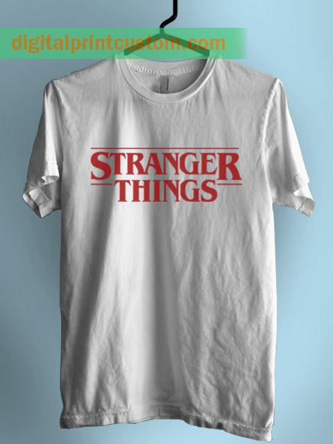 9d8c76d9 Stranger Things Logo Print On T Shirt By Digitalprintcustom