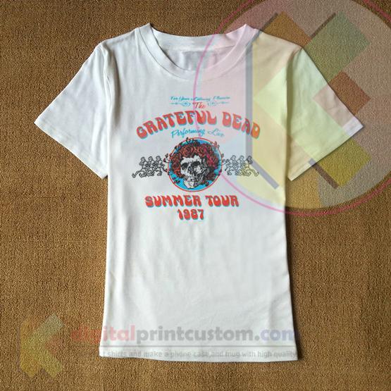 dcfa59e6043 Grateful Dead Summer Tour 1987 T-shirt By Digitalprintcustom