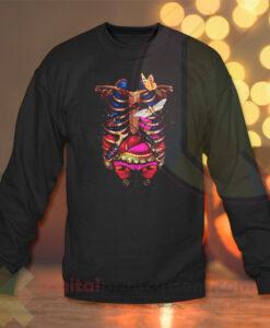 Art animal Skull Crewneck Sweatshirts