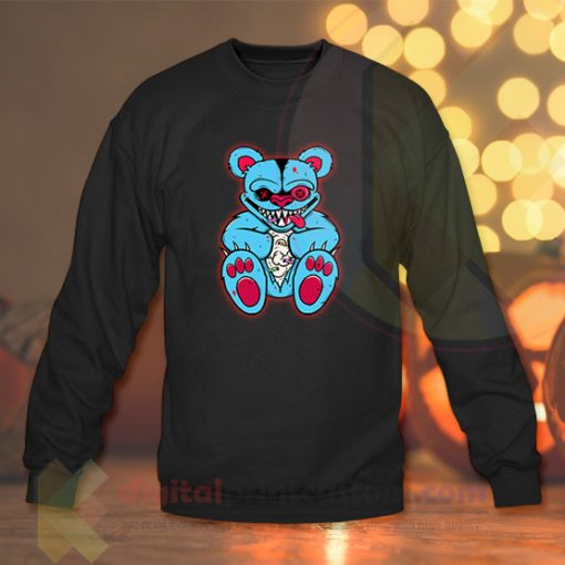 Evil Teddy Bear Crewneck Sweatshirts