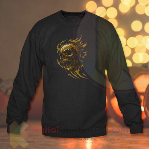 Fire Skull Crewneck Sweatshirts