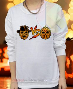 Freddy vs Jason Pumpkin Mask Sweatshirts