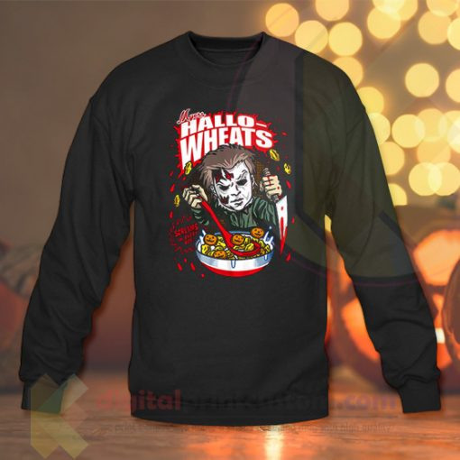 Hallo Wheats Screams in Ever Box Crewneck Sweatshirts