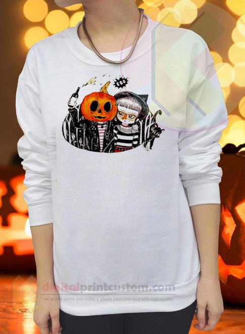 Halloween Party Adults Crewneck Sweatshirts