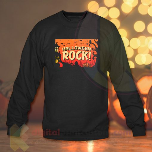 Hallowen Rock Crewneck Sweatshirts