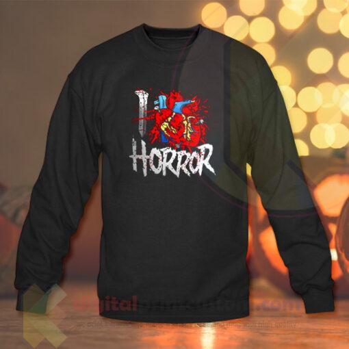 I Love Horror Crewneck Sweatshirts