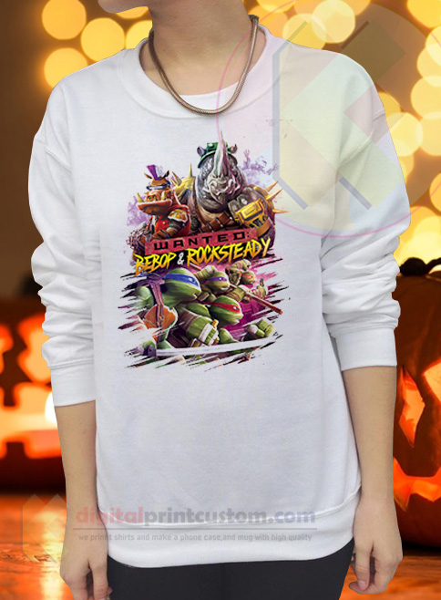 Wanted Bebop & Rocksteady Crewneck Sweatshirts