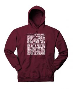 Queen Bohemian Rhapsody Lyrics Hoodie
