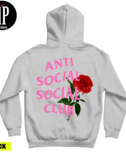 Anti Social Social Club With Roses Hoodie