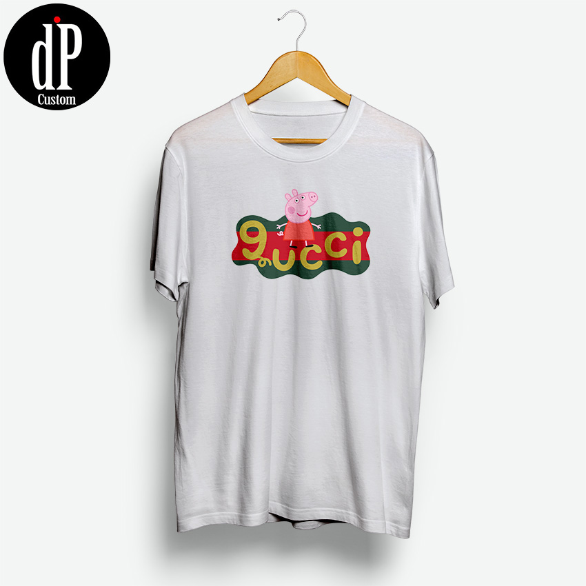 31dbf8fd Peppa Pig X Gucci Replica Logo T-Shirt | Design By Digitalprintcustom