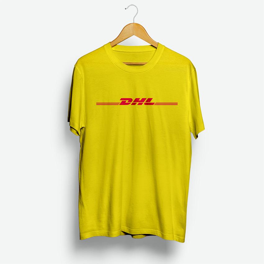 grande vendita d389e 08f34 Yellow DHL T-Shirt All Size Cheaps Custom For Men's and Women's