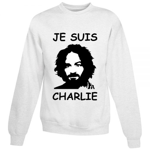 For Sale Je Suis Charles Manson Cheap Sweatshirt