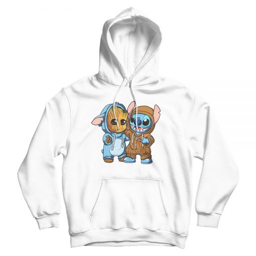 For Sale Stitch And Groot Funny Hoodie