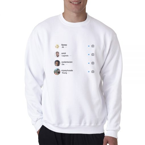 All Legends Die Young Instagram Sweatshirt