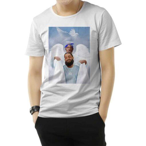 Two Angels Tupac Shakur And Nipsey Hussle T-Shirt