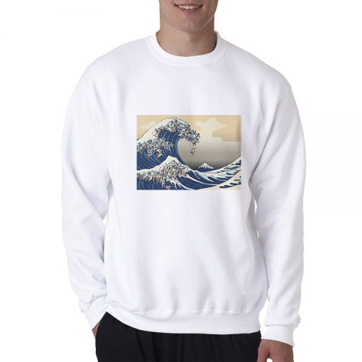 The Great Wave of Pug Sweatshirt Trendy Clothes