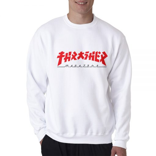 Thrasher Magazine Godzilla Sweatshirt Trendy Clothes