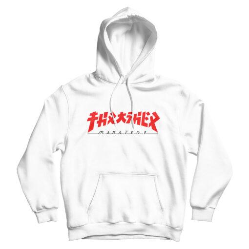 Thrasher Magazine Godzilla Hoodie Trendy Clothes